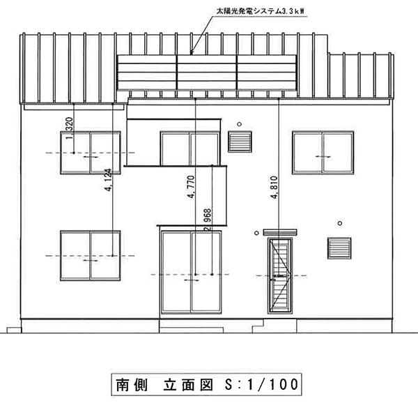 立面図1F